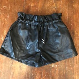Honey punch ,PU shorts with lining inside